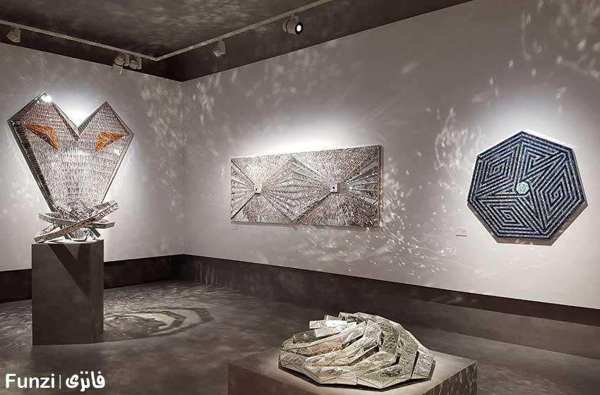 آثار منیر فرمائیان در باغ موزه نگارستان در تهران 1