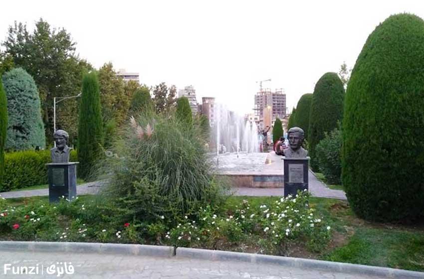 مجسمه ها و فواره های پارک لاله | بوستان لاله