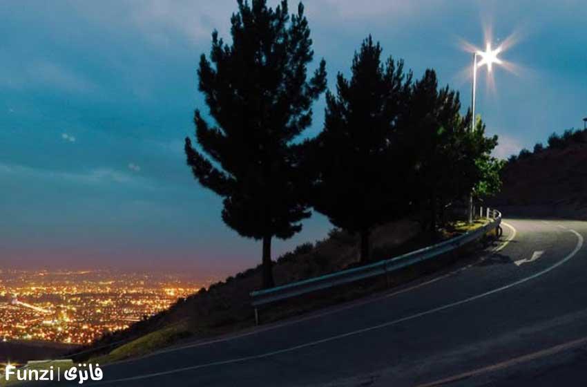 شب در پارک کوهسار | پارک جنگلی کوهسار تهران
