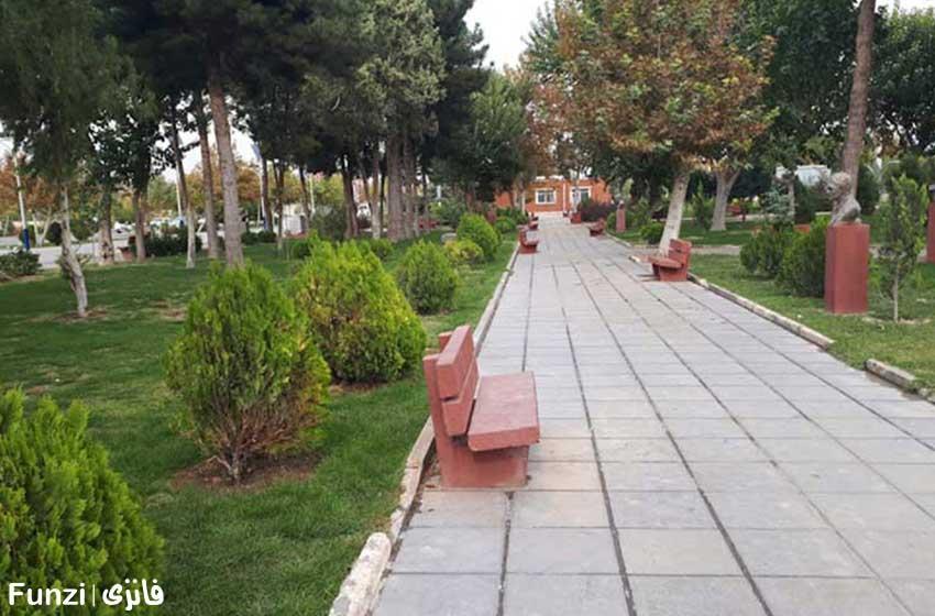 مناظر زیبا و نیمکت های بوستان ولایت تهران