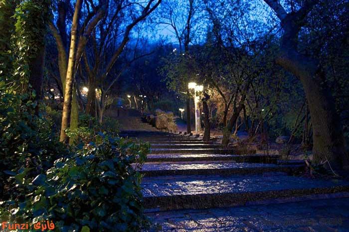 پارک جمشیدیه تهران در شب
