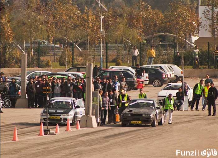 مسابقه اتومبیل رانی در بوستان ولایت تهران