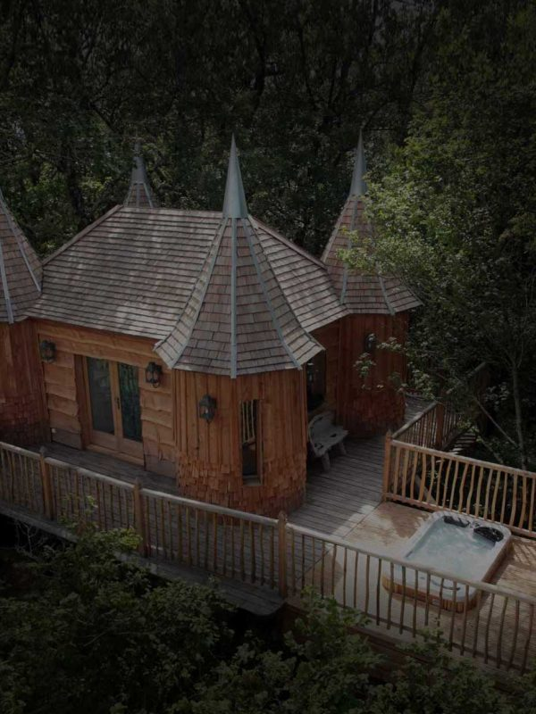 هتل درختی و کاخ های درختی در فرانسه