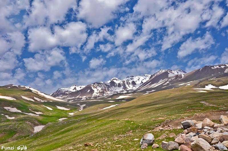 آسمان آبی و طبیعت بکر سرعین اردبیل