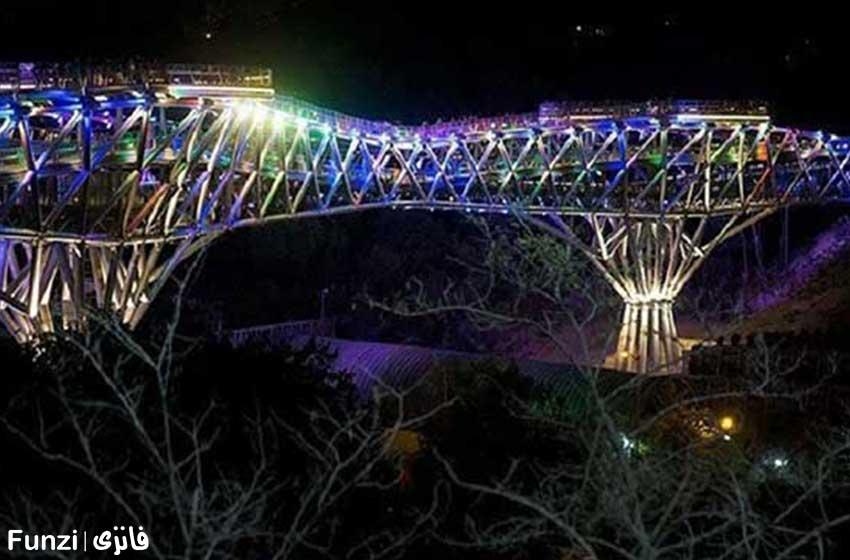 پل طبیعت در پارک آب و آتش تهران