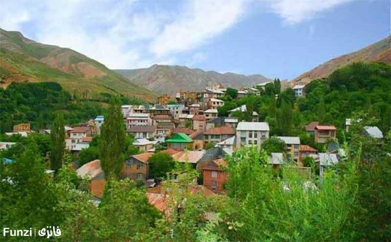 روستای برگ جهان از روستاهای تماشایی اطراف تهران