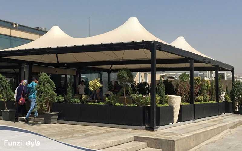 کافه رستوران ایزار باغ کتاب تهران
