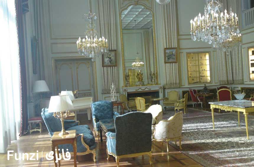اتاق پذیرایی در کاخ نیاوران