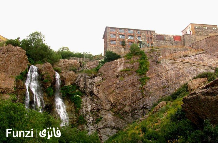 آبشار دوقلوی دربند | جاهای دیدنی دربند تهران