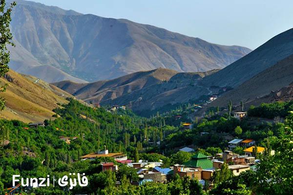 روستای برگ جهان | جاهای دیدنی تهران و حومه