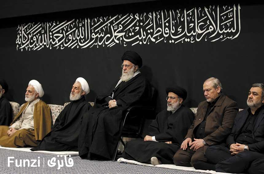 مراسم فاطمیه در حسینیه امام خمینی
