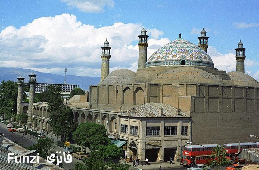 پلان مسجد سپهسالار تهران