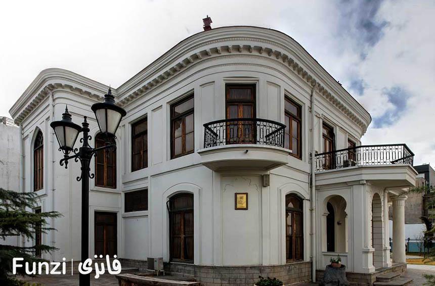معماری موزه نقاشی پشت شیشه تهران