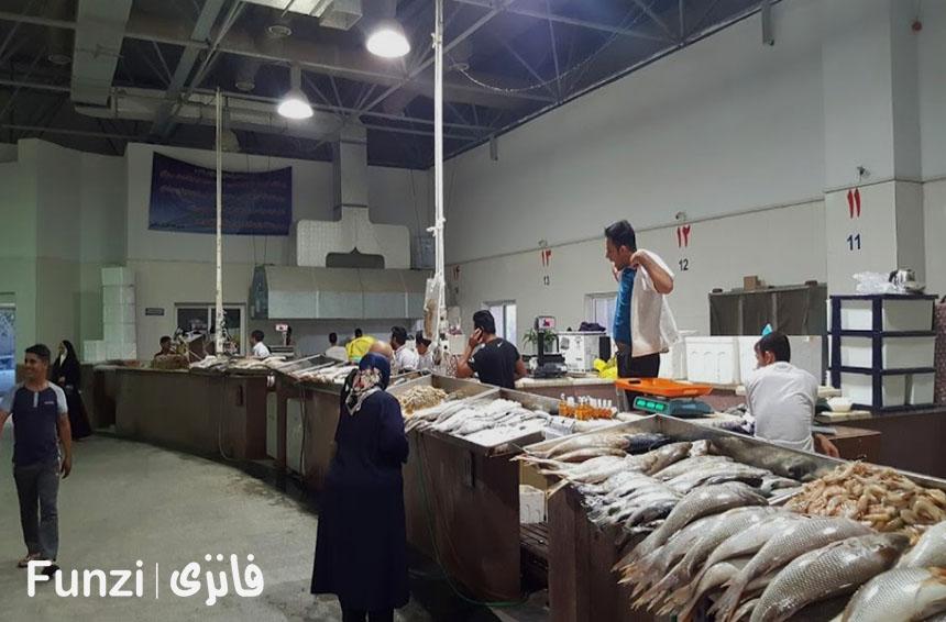 قیمت ماهی در جزیره کیش | بازار ماهی فروش های کیش فانزی