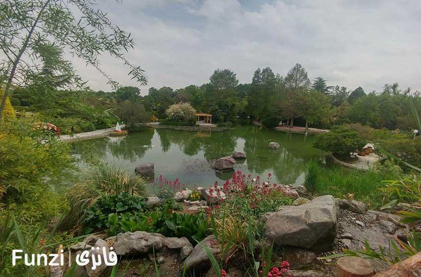 باغ صخره ای باغ گلهای اصفهان funzi