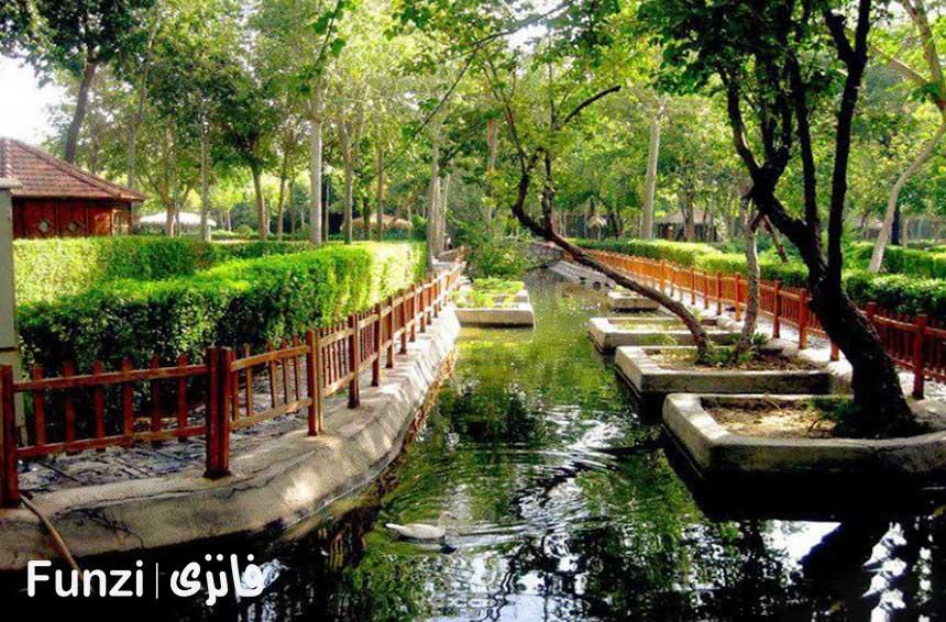 نقشه پارک جنگلی ناژوان اصفهان فانزی
