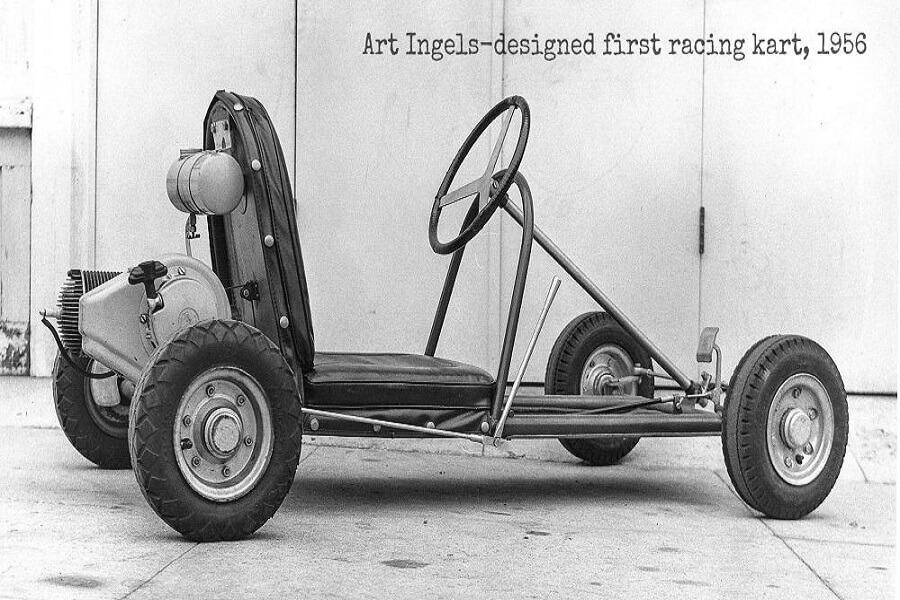 اولین ماشین کارتینگ جهان که توسط آرت اینگلز ساخته شد
