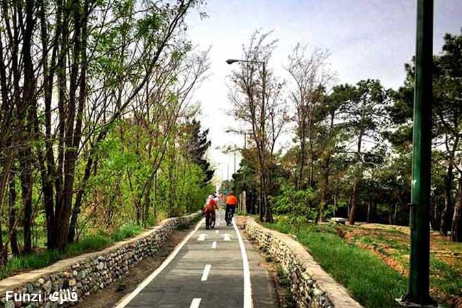 چیتگر پیست دوچرخه سواری تهران