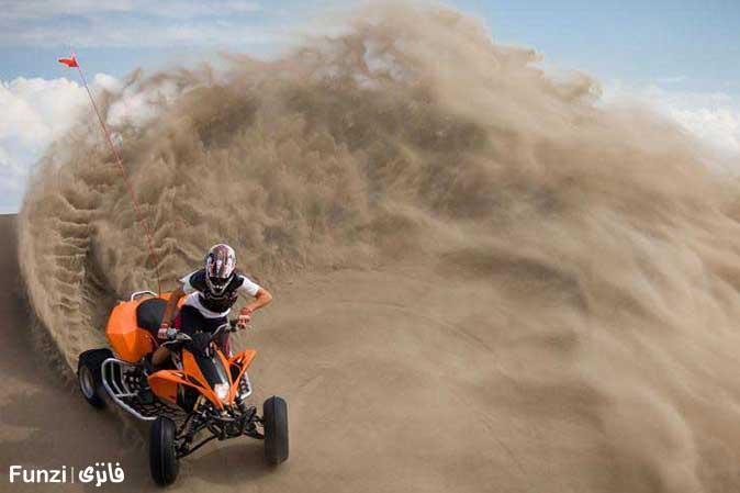 تپه ماسه موتور چهارچرخ
