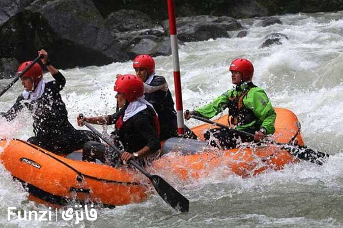 رفتینگ رودخانه ارمند چهارمحال بختیاری