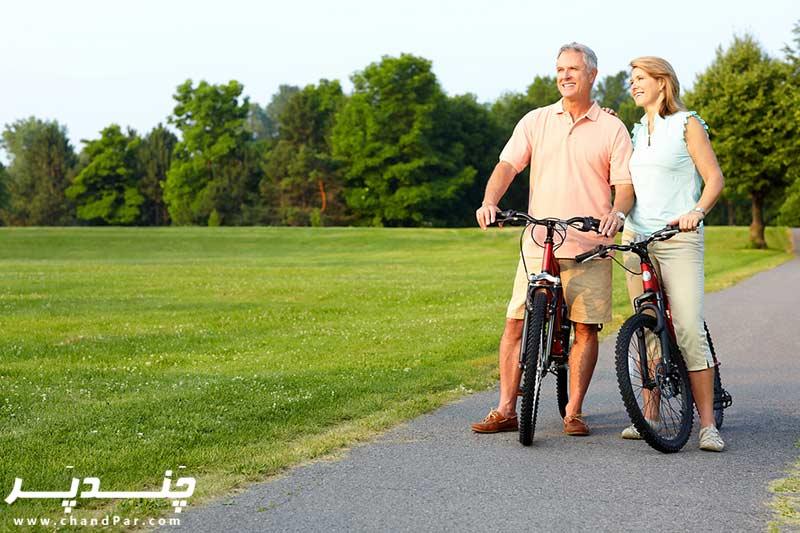 فواید دوچرخه سواری در پیشگیری از پیری
