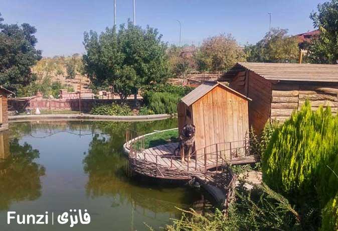 فضای زیبای دهکده طبیعت قزوین