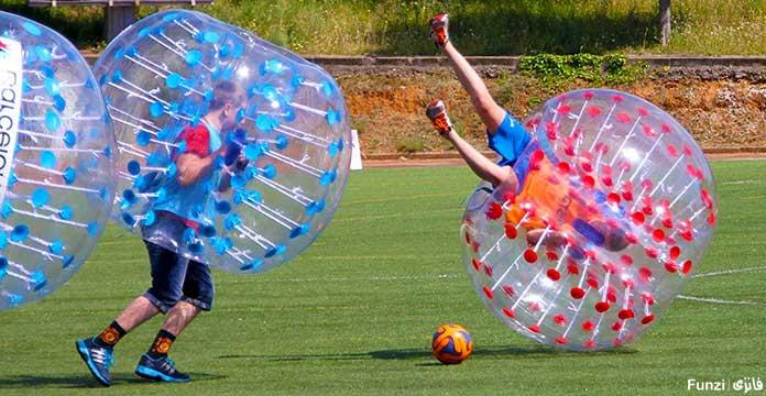 تجهیزات فوتبال حبابی