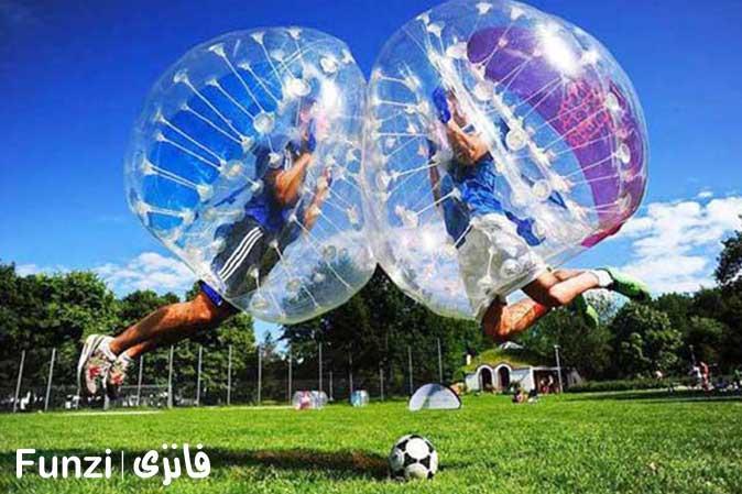 ضربه زدن در فوتبال حبابی