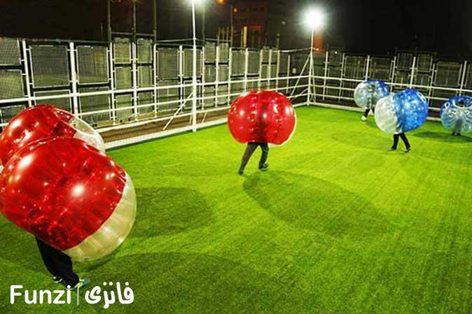 فوتبال حبابی تهران