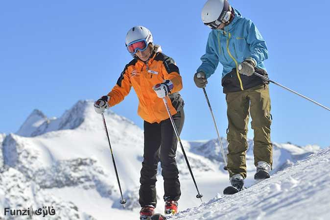 آموزش تمرینات اسکی در حال حرکت